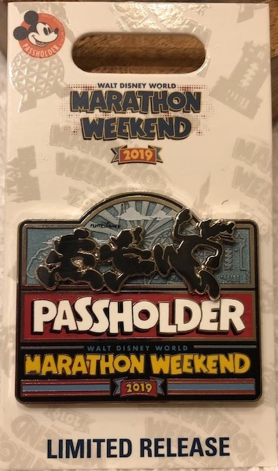 WDW Marathon Weekend 2019 Passholder Pin