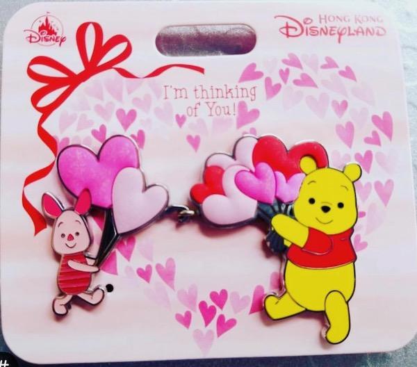 Winnie the Pooh Valentine's Day HKDL Pin Set