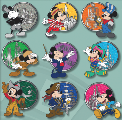World's Biggest Mouse Party Disneyland Mystery Pins
