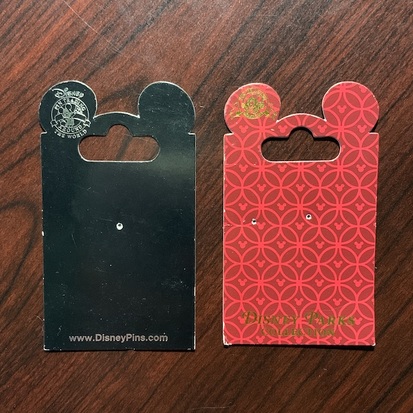 Black and Red Disney Pin Backer Cards