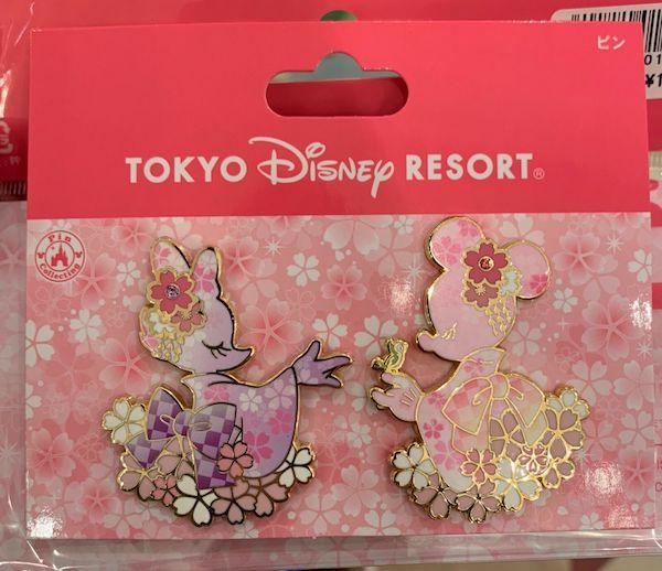 Cherry Blossom Tokyo Disney 2019 Pin Set