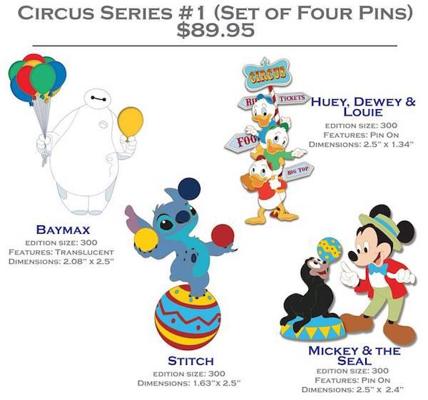 Circus Series #1 Pin Set