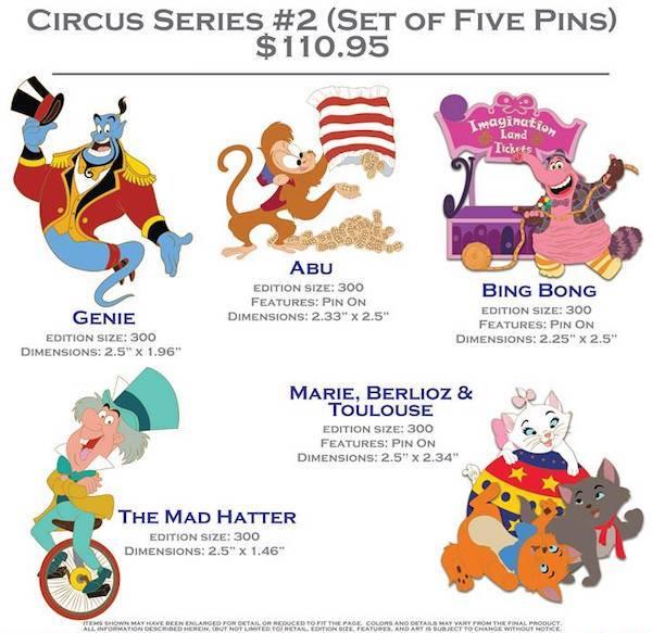 Circus Series #2 Pin Set