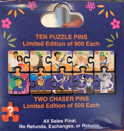 Coco Character Connection Disney Pins