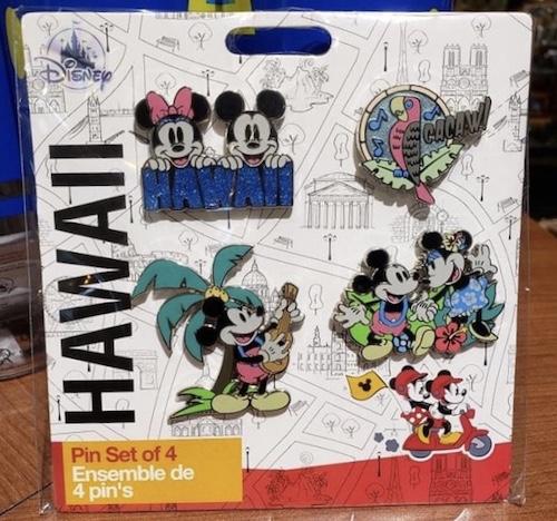 Disney Store Hawaii 4 Pin Set