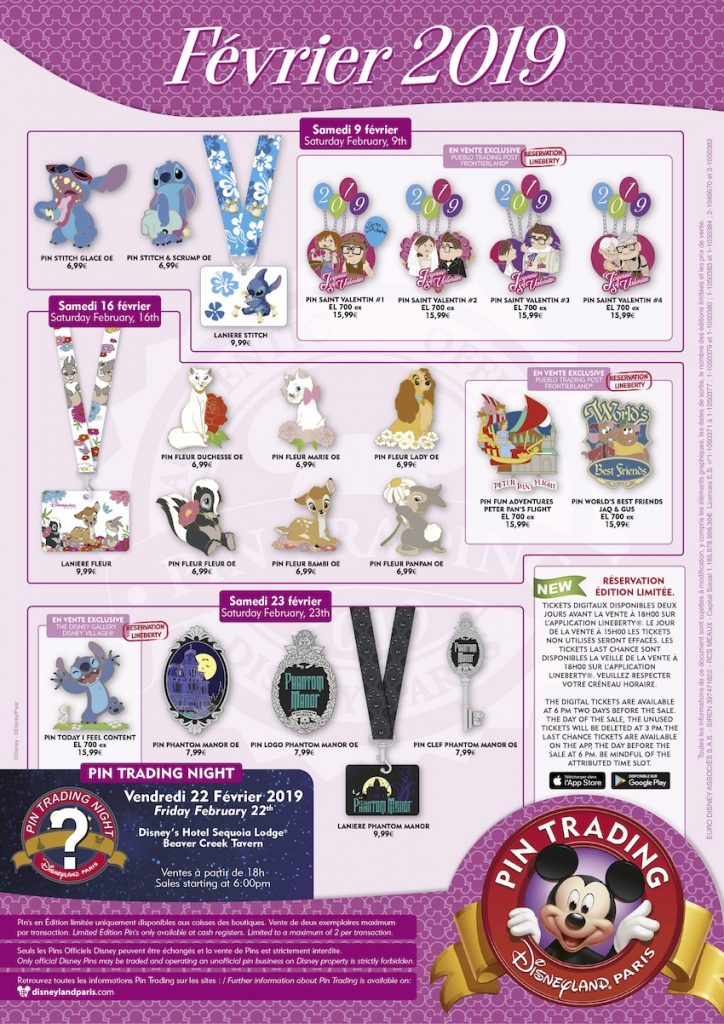 Disneyland Paris February 2019 Pins