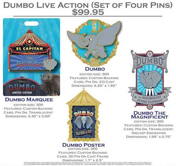 Dumbo Live Action DSSH Pin Set