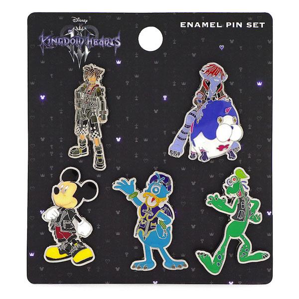 Kingdom Hearts 3 Loungefly Pin Set