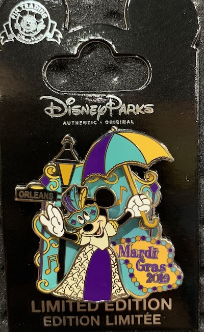 Mardi Gras 2019 Disney Pin