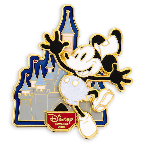 Mickey Mouse Steamboat Willie Disney Visa Cardmember Pin