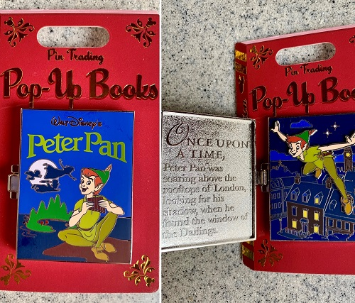 Peter Pan Pin Trading Pop Up Pin