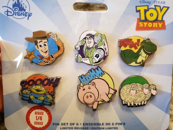 Toy Story Disney Store 2019 Pin Set Series #1