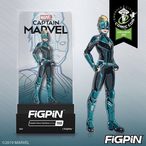 Captain Marvel FiGPiN Pin - ECCC 2019