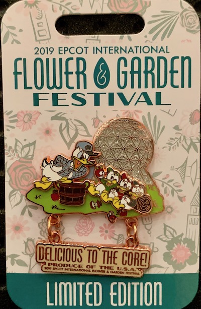 Donald and Nephews Pin - Epcot Flower & Garden 2019