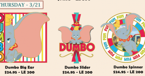 Dumbo Disney Employee Center Pins
