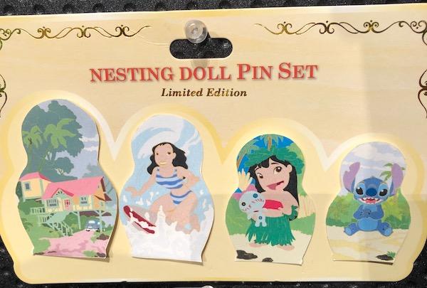 Lilo & Stitch Nesting Dolls Pin Set