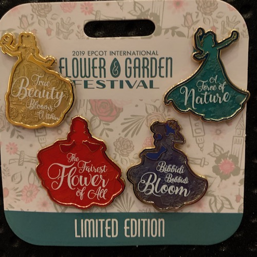 Princess Pin Set - Epcot Flower & Garden 2019