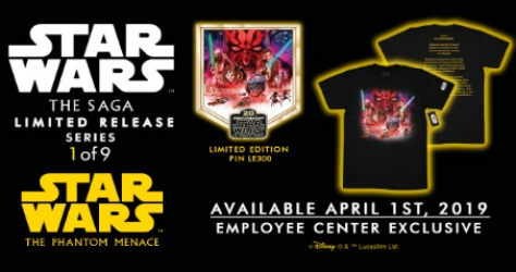 Star Wars The Saga Limited Release Employee Center Pins