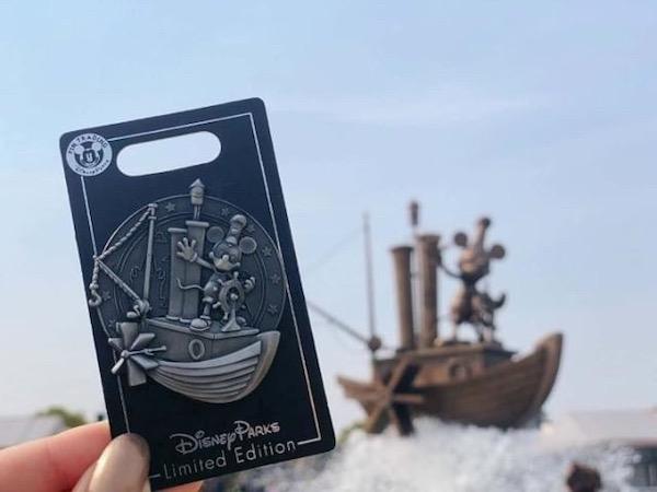 Steamboat Willie Fountain Shanghai Disneyland Pin