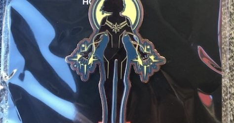 Surprise Captain Marvel Stained Glass Pin