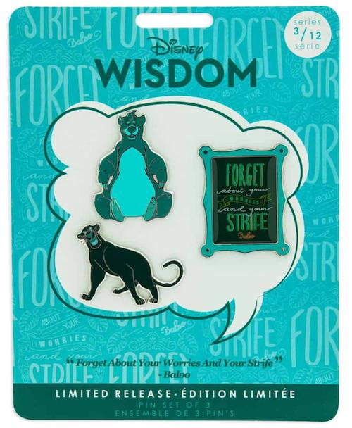The Jungle Book Disney Wisdom Pin Set - Disney Pins Blog