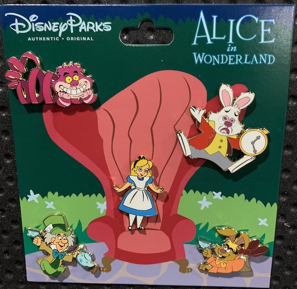 Alice in Wonderland Booster Pin Set
