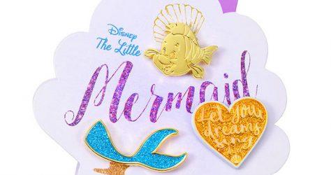 Ariel & Flounder Disney Store Japan Pin Set