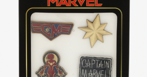Captain Marvel Hot Topic Pin Set
