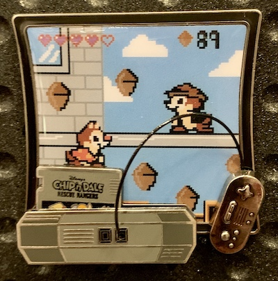 Chip n Dale Rescue Rangers Kingdom Consoles Pin