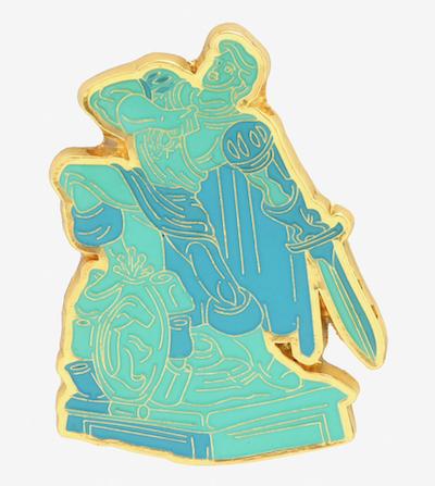 Disney Prince Eric Statue Enamel Pin