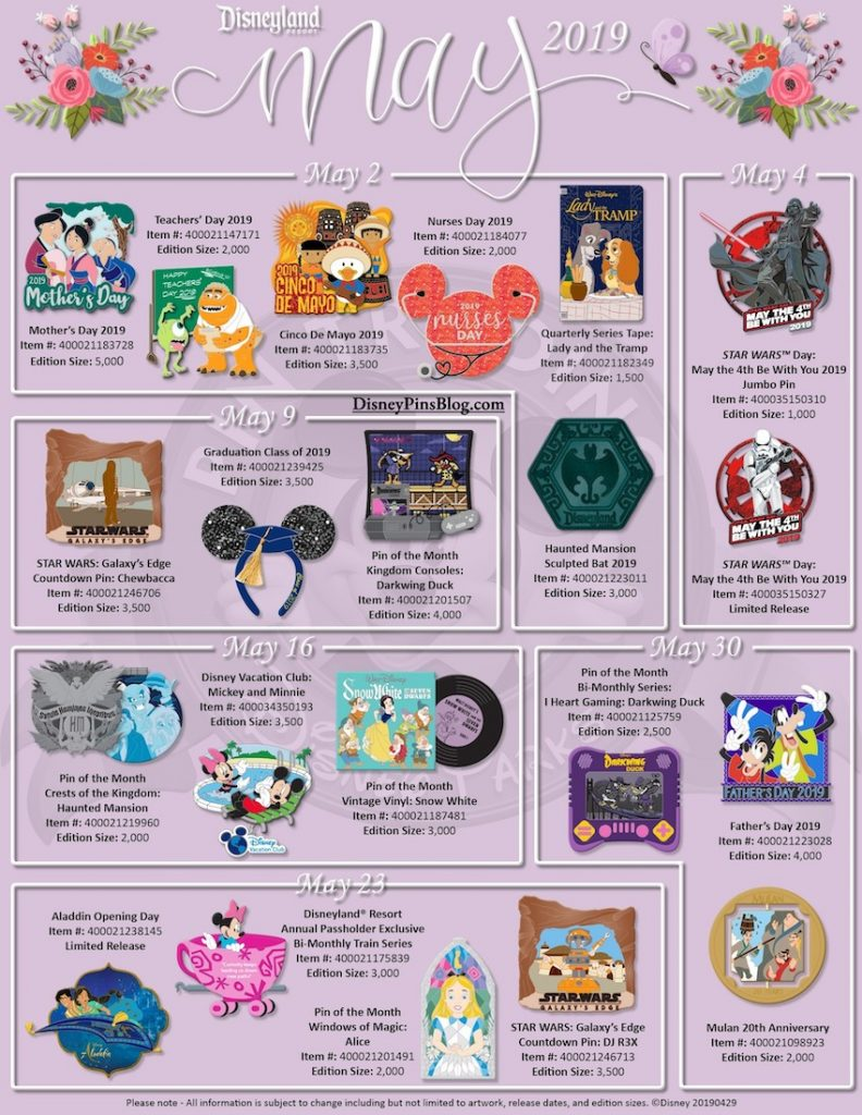 17b23168be59 Disney Parks May 2019 Pin Preview - Disney Pins Blog