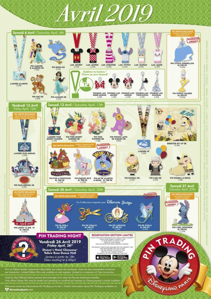 Disneyland Paris April 2019 Pins