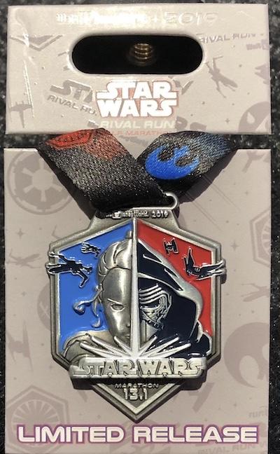 Half Marathon Star Wars Rival Run 2019 Medal Pin