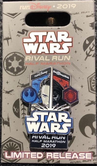 Half Marathon Star Wars Rival Run 2019 Pin