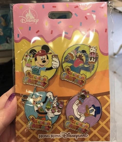 Ice Cream Fantasy Disney Pin Set