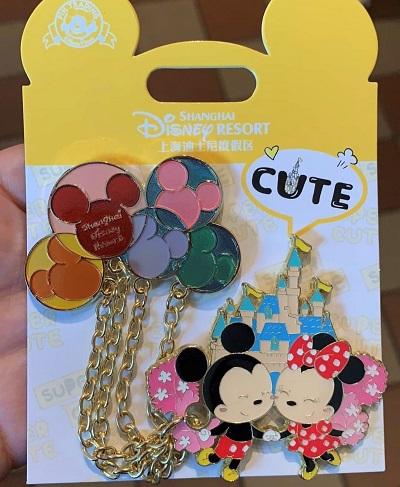 Mickey and Minnie Cute Balloons Pin - Shanghai Disney Resort