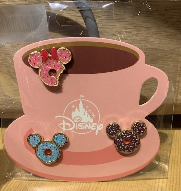 Mickey and Minnie Donut Disney Pin Set