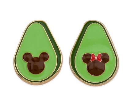 Mickey and Minnie Mouse Avocado Pin Set