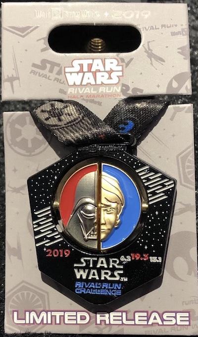 Rival Run Challenge Star Wars 2019 Medal Pin