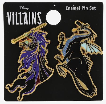 Sleeping Beauty Maleficent Dragon BoxLunch Disney Pin Set