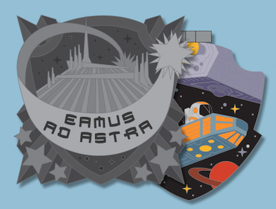 Space Mountain Crests of the Kingdom Pin