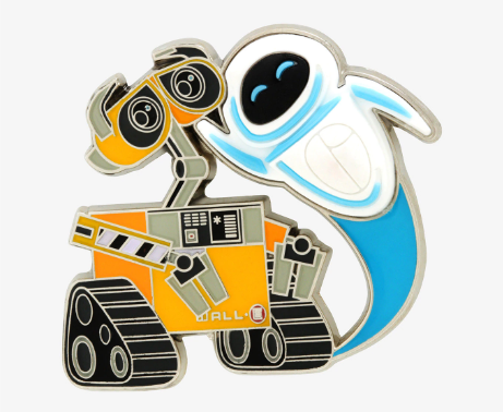 WALL-E & EVE BoxLunch Disney Pin