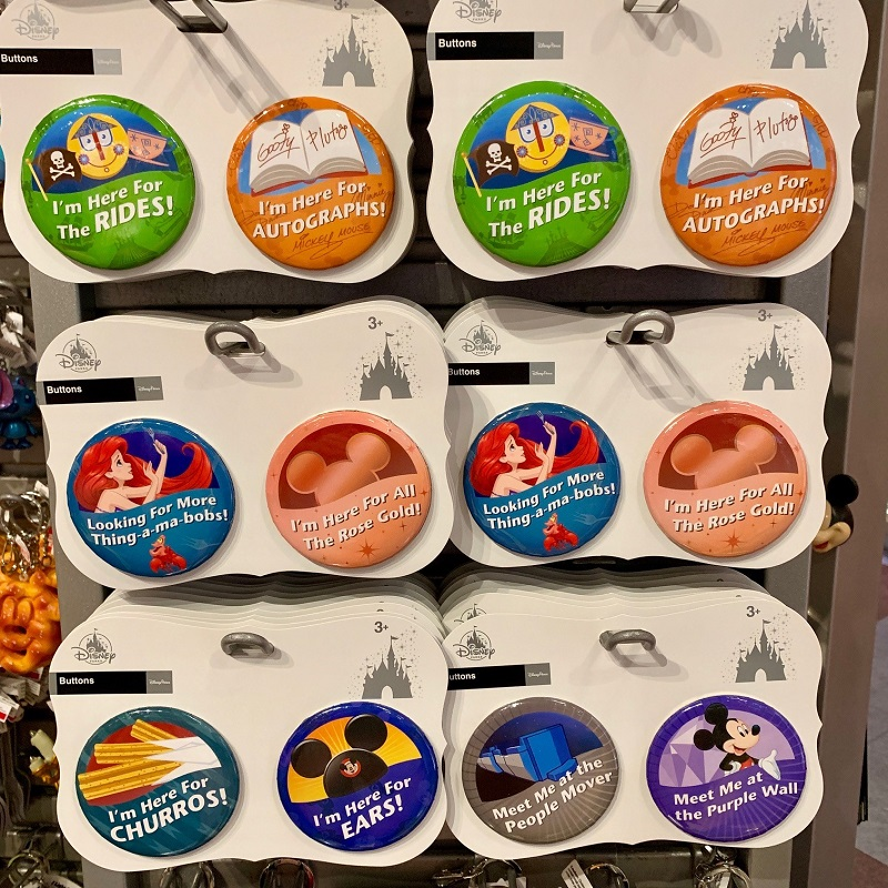 Buttons at Disney Parks