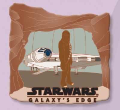Chewbacca Star Wars Galaxy's Edge Countdown Pin