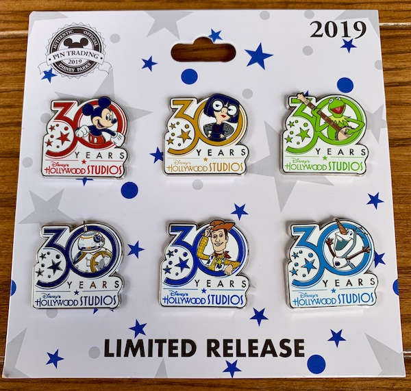 Disney's Hollywood Studios 30th Anniversary Pin Set
