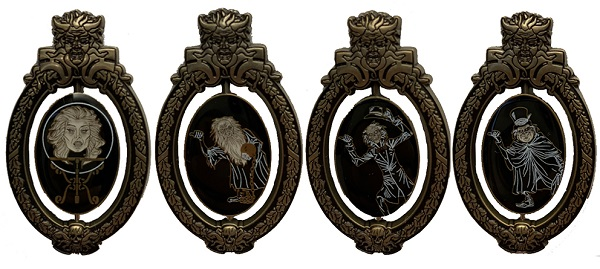 Haunted Mansion 50th Oval Plaque Pins