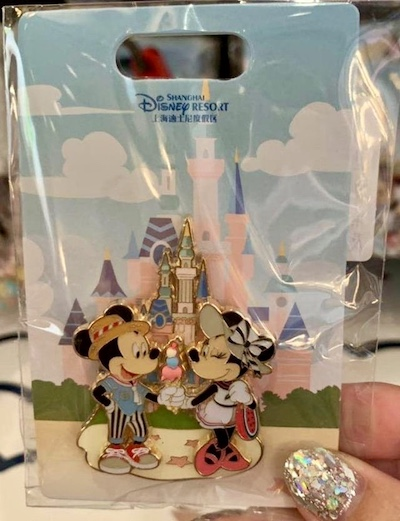 Mickey & Minnie Ice Cream Summer 2019 Shanghai Disney Pin