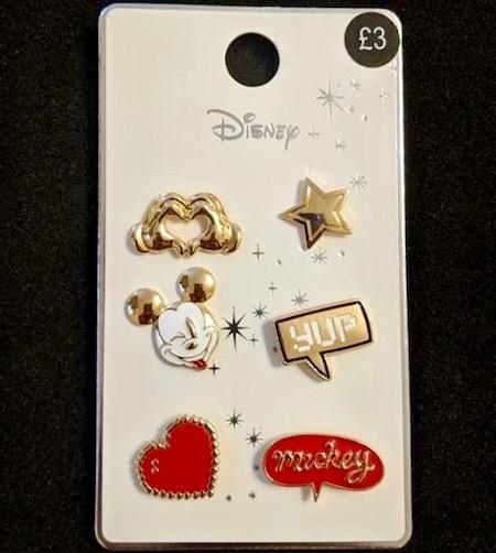Mickey Mouse Primark Disney Pin Set