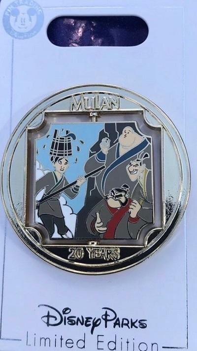 Mulan 20th Anniversary Disney Pin