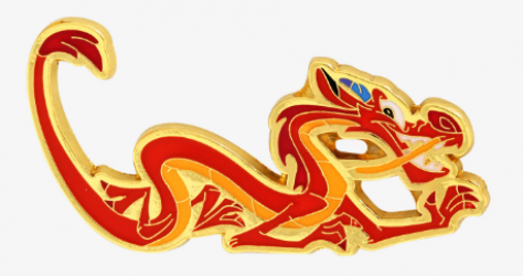 Mushu BoxLunch Disney Pin - Close Up